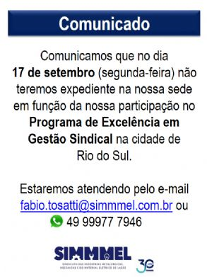 Comunicado Expediente SIMMMEL - 17/09